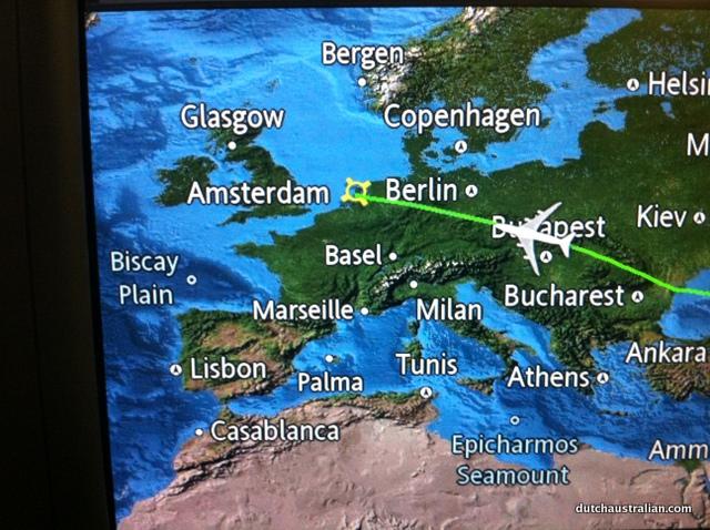 huge plane on map