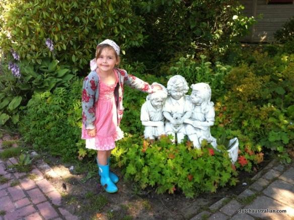 sophia and statues