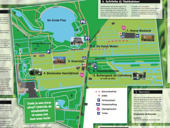 Biesland Dagen map