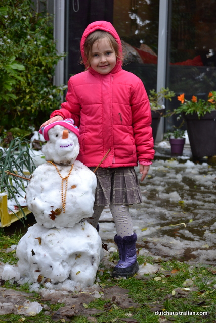Sophia and snowgirl