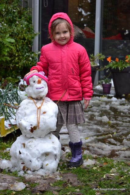 Sophia and snowgirl