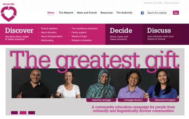 Donate Life website