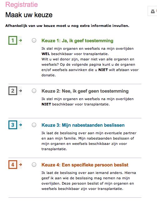 donor choices NL