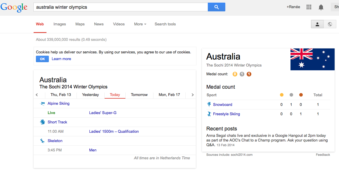 Australia Google Olympic Games