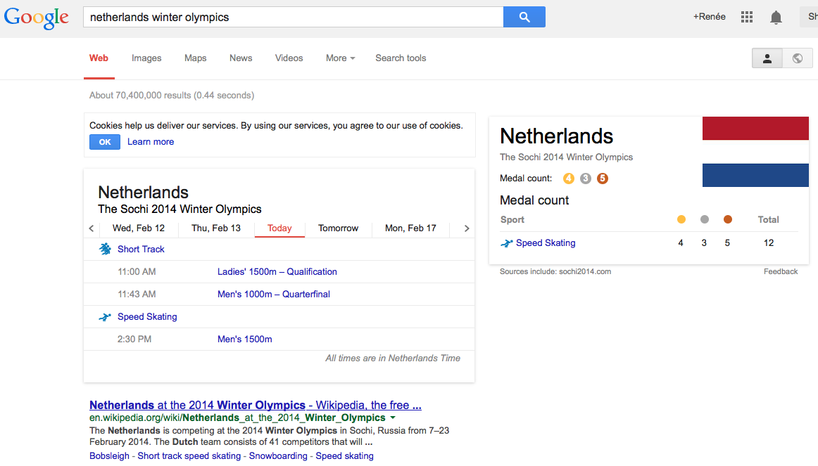 Google The Netherlands Olympics